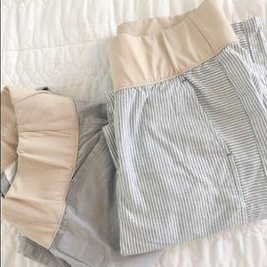 Gap Chino maternity pants bundle